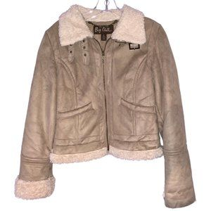 Big Chill Suede Winter Tan Jacket (Size: M)